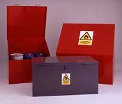 Heavy Duty Sloping Top Bins and Heavy Duty Rectangular Storage Bins